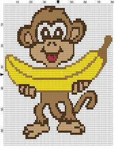 Monkey x-stitch
