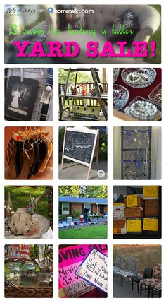 Yard and Garage Sale Tips and Tricks :: Meredith Greenberg's clipboard on For Sale Sign, Art For Sale, Sale Signs, Yard Sale Organization, Organization Ideas, Garage Sale Tips, Garage Sale Pricing, Rummage Sale, Sell Your Stuff