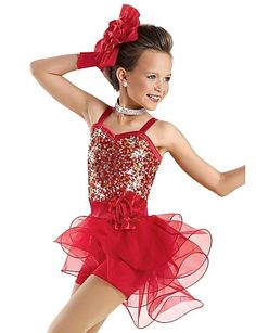 Performance Children's Sequin And Organza Ballet/Jazz Outfit 2016 – €48.99