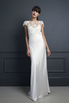 MITZI LEATHER TOP & IRIS SLIP | WEDDING DRESS BY HALFPENNY LONDON