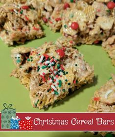Christmas Cereal Bars #recipe
