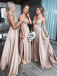 Sexy Bridesmaid Dress Convertible A-line Floor-Length Chiffon Prom Dresses Hot Bridesmaid Dresses Under 100, Champagne Bridesmaid Dresses, Wedding Bridesmaids, Beautiful Bridesmaid Dresses, Prom Dresses, Sparkly Bridesmaids, Bridesmaid Dress Colors, Champagne Long Dress, Bridesmaid Dresses Long Sleeve