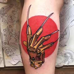 "1,604 Likes, 10 Comments - TattooSnob (@tattoosnob) on Instagram: ""Freddy Krueger Glove tattoo by @rachelbaldwintattoo at Bold as Brass Tattoo Co. in Liverpool,…"""
