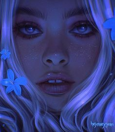 Digital Art Girl, Digital Portrait, Portrait Art, Pretty Art, Cute Art, Anime Art Girl, Aesthetic Art, Cartoon Art, Cute Drawings