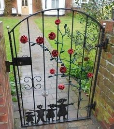 Rose Garden Gate, Better Without The Tacky Family Silhouettes