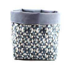 Mini triangle de tissu panier bleu par ByBibiBerlin sur Etsy
