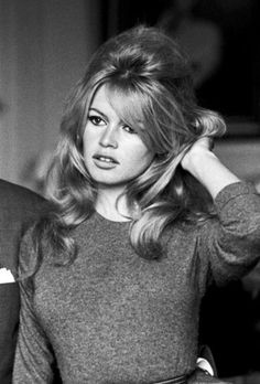 Brigitte Bardot, hair