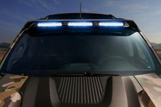 Off-road roof lighting on the Chevy Colorado ZH2