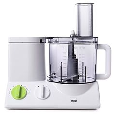 Braun FP3020 12 Cup Food Processor Ultra Quiet Powerful motor includes 7 Attachment Blades  Chopper and Citrus Juicer  Made in Europe with German Engineering