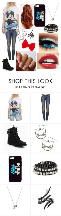 """My Friend Kayla"" by animewolfspirit1997 ❤ liked on Polyvore featuring Anine Bing, INDIE HAIR, Diesel, With Love From CA and AS29"