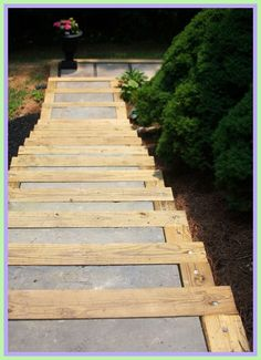 wood patio steps diy-#wood #patio #steps #diy Please Click Link To Find More Reference,,, ENJOY!! Patio Steps, Outdoor Steps, Outdoor Decking, Stepping Stone Walkways, Landscape Stairs, Garden Stairs, Wood Patio, Concrete Patios, Concrete Steps