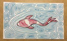 Koi #illustration #drawing #lineart #koi