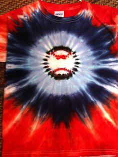 Baseball tie dye Tshirt