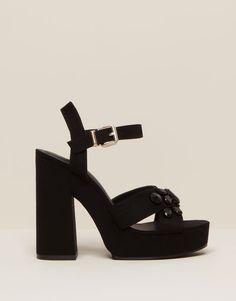 Pull&Bear - zapatos - novedades - sandalia tacón - negro - 15875011-I2015