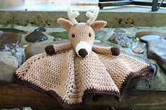 Ravelry: Eveamlizya's Deer Lovey Crochet Deer, Crochet Lovey, Baby Girl Crochet, Crochet For Boys, Crochet Doilies, Crochet Toys, Knit Crochet, Crochet Blankets, Baby Blankets