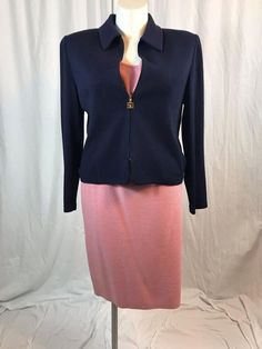 #forsale #STJOHNKnits Collection Navy Blue/Pink Suit 3 Pieces #instashopping #gift #shopaholic #deals #me #eBay http://www.ebay.com/itm/172928118401
