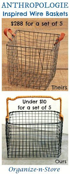 DIY Anthropologie Inspired_Wire Baskets