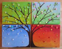tree seasons handprints | Four seasons tree ..-crafts