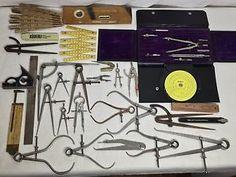 23pc Vintage LS Starlett Caliper Measuring Tool Lot Machinist Divider Rule Kit | eBay