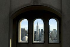 View from inside Coit Tower.