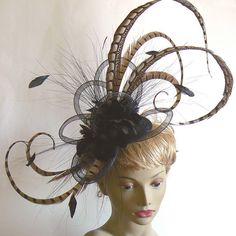 Large pheasant fascinator  pheasant cocktail by alicehartcouture