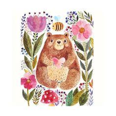 Bear nursery wall art printable I love you beary much Nursery room decor Bear kids quote print Bear Bear Nursery, Nursery Wall Art, Nursery Room, Art D'ours, Flower Shower Curtain, Shower Curtains, Kids Poster, Bear Print, Cute Bears