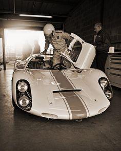 Rainer Becker & David Clark - 1967 Porsche Carrera 910 Spyder Coupe No.25 pt.2 - 2012 Donington Historic Festival by rookdave: