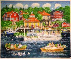 Bert Håge Häverö - Litografi - Blidösund Köp direkt online på www.galleristockholm.se Beställ här! Klicka på bilden.