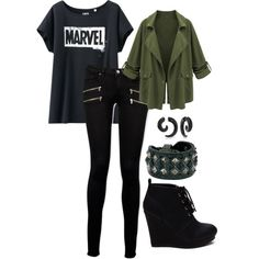 Dark Marvel by pure-ireland on Polyvore featuring polyvore, fashion, style, Uniqlo, Paige Denim, Frye and Bling Jewelry