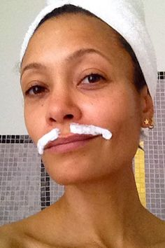 Thandie Newton Snaps The Best Celeb Selfie Ever While Removing Her Upper Lip Mustache Upper Lip Hair Removal, Hair Removal Diy, Hair Removal Methods, Hair Removal Cream, Laser Hair Removal, Mustache Grooming, Female Facial Hair, Female Lips, Beauty Secrets