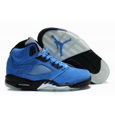Limited 2012 Air Jordan 5 Blue Black Basketball Shoes For $66.50 Go To:  http://www.basketball-mall.com