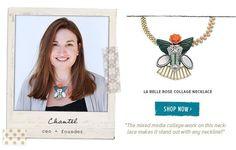La Belle Rose Collage Necklace www.chloeandisabel.com/boutique/jewelryality