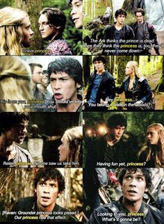 "CW's The 100 - Bellamy Blake and Clarke Griffin. All the times Bellamy refers to Clarke as ""Princess,"" which makes me so happy. It started out as a joke, but it's kind of not a joke anymore :) 