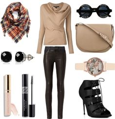 Fall Outfit Idea 2016 Polyvore.Great for Moms,Schools,Teens,Hipster,Women,This outfit can be worn casually or in parties. streetstyle chic fall outfit classy warm trendy party winter.Drape front sweater-Rag