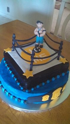 Wrestling Cake NorthShore Country Club Cakes Pinterest