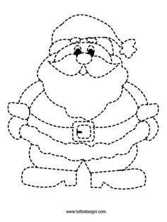 pregrafismo-babbo-natale Preschool Christmas, Christmas Crafts For Kids, Christmas Activities, Christmas Colors, Christmas Themes, Winter Christmas, Kids Christmas, Holiday Crafts, Christmas Worksheets
