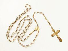 Vintage Crystal Bead Gold Filled Cross by GrandVintageFinery