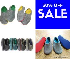 SALE 30% OFF - Custom Mens Wool Slippers at FELT FORMA - https://www.feltforma.com/ Use a coupon code: FELTFORMA30