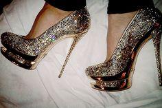 Gianmarco Lorenzi Women's Crystal Shoes. OMG OMG OMG.