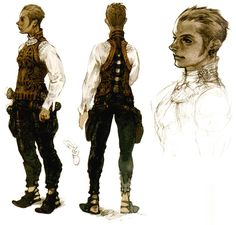Balthier Concept ✤ || CHARACTER DESIGN REFERENCES | キャラクターデザイン • Find more at https://www.facebook.com/CharacterDesignReferences if you're looking for: #lineart #art #character #design #illustration #expressions #best #animation #drawing #archive #library #reference #anatomy #traditional #sketch #artist #pose #settei #gestures #how #to #tutorial #comics #conceptart #modelsheet #cartoon #medieval #renaissance #outfit #clothing || ✤