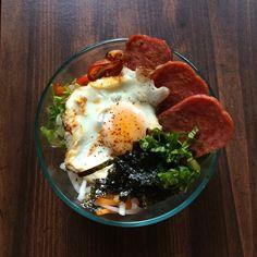 Korean Spam Rice Bowl Recipe by kaitlynmanahan on Spam Recipes, Brunch Recipes, Dinner Recipes, Cooking Recipes, Healthy Recipes, Korean Recipes, Rice Recipes, Yummy Recipes, Keto Recipes