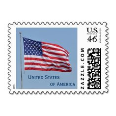 United States of America Flag Postage Stamp Design from Stamps by Janz  Please ADD me to Proud to be an American