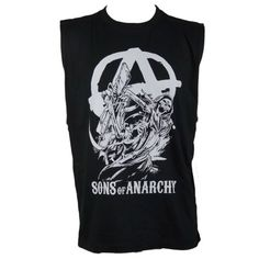 Popularity of Motorcycle TV Shows Including Sons of Anarchy and The Devil's Ride Muscle Shirts, Sons Of Anarchy, Tank Tops, T Shirt, Black, Women, Fashion, Supreme T Shirt, Moda