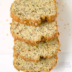 Keto Low Carb Flour Bread Recipe - A low carb coconut flour bread recipe packed with seeds, for a delicious multi-grain taste without nuts or grains! Keto paleo bread made with coconut flour is perfect for sandwiches. Paleo Recipes, Low Carb Recipes, Cooking Recipes, Tapioca Flour Recipes, Coconut Recipes, Paleo Food, Cooking Tips, Best Keto Bread, Skinny Recipes