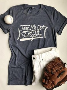 Dresswel Women Baseball Shirts Letter Printed T-shirt Take Me Out To The Ballgame Summer T-shirt Tops Softball Shirts, Softball Mom, Baseball Tees, Sports Shirts, Baseball Season, Baseball Stuff, Baseball Outfits, Baseball Tshirt Ideas, Baseball Girlfriend Shirts