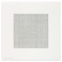 SOL LEWITT Catalogue # 2003.01|Straight and Not Straight Lines