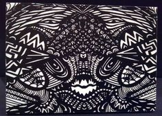 5x7 print from original sharpie drawingmounted on gator foam with a scratch resistant/uv coating ready to hang with hanger on backEach panel is signed by mepurchase does not transfer copyrights©2012NicoleBishopp