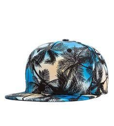 4dce148e Vintage Coconut Tree Print Fitted Flat Bill Hats Cool Snapback Hip Hop Cap  Blue CS12JMWVIYF