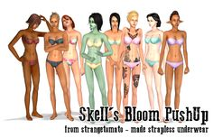 Skell's Bloom PushUp made strapless underwear When... - LittleLittleSimmies (Note: textures by Summerdreamsims)