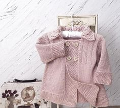 Baby girls jacket with lace collar
